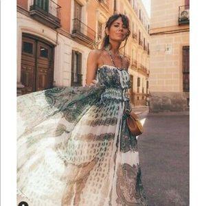 Zara PAISLEY PRINTED STRAPPY LONG DRESS. 2821/587.